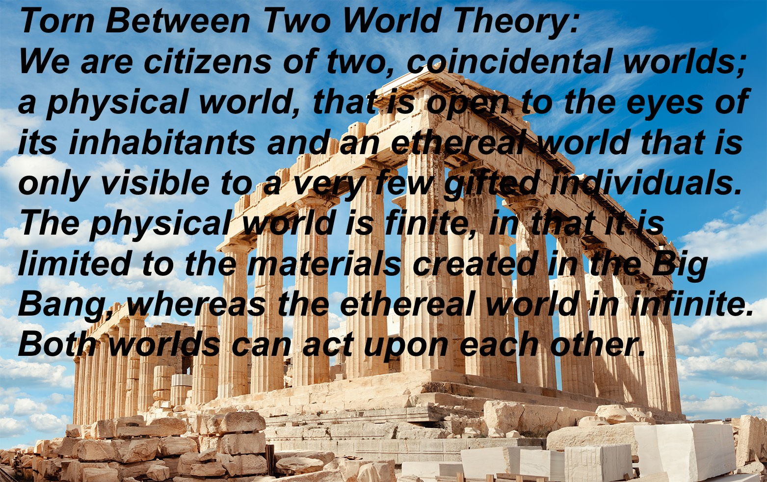 The theory of human existence philosophy